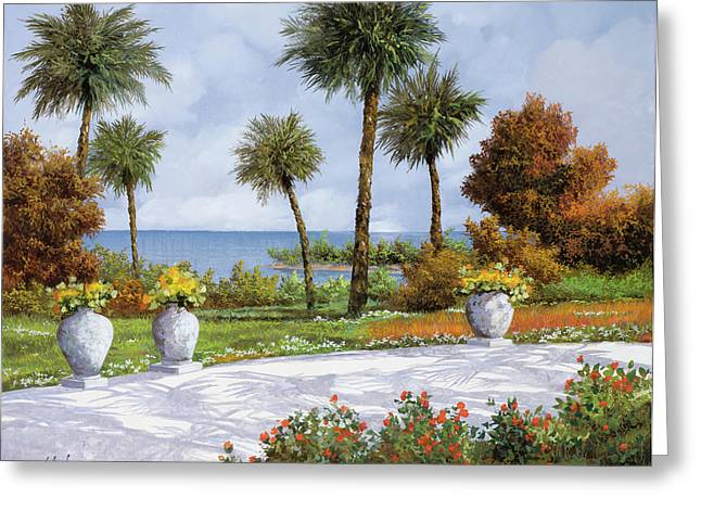 Shadows Greeting Cards - A Spasso Tra Le Palme Greeting Card by Guido Borelli
