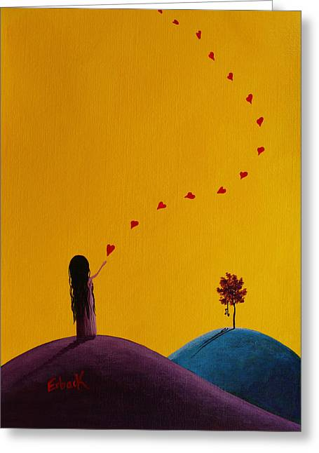 Floating Girl Greeting Cards - A Special Gift Is On The Way Greeting Card by Shawna Erback