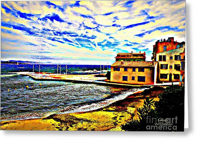 St.tropez Greeting Cards - A Spectacular Sky Greeting Card by Lainie Wrightson