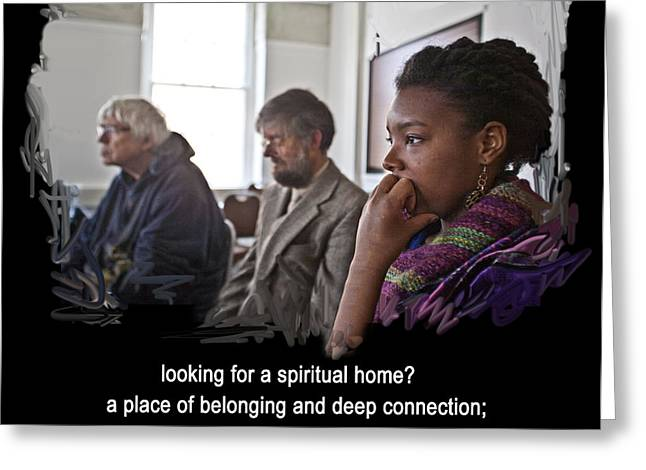 Quakers Digital Art Greeting Cards - A Spiritual Home Greeting Card by Mike Hoyle
