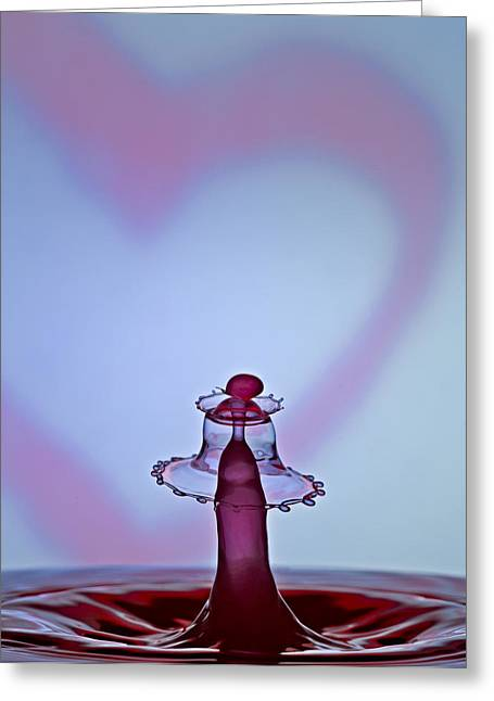 Hydration Greeting Cards - A Splash Of Love Greeting Card by Susan Candelario