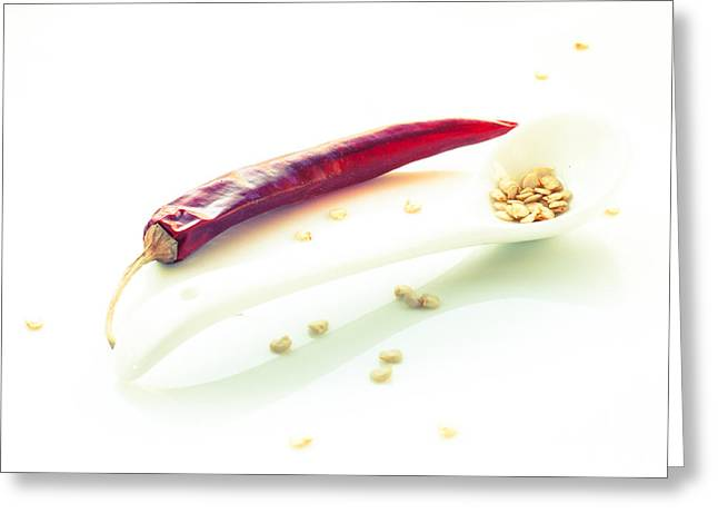 Tone On Tone Greeting Cards - A spoon full of heat 1 Greeting Card by Constance Fein Harding
