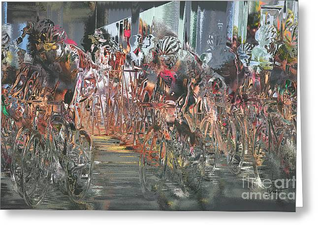 Tour Of The Gila Greeting Cards - A Sporting Vibration Greeting Card by Vicki Pelham
