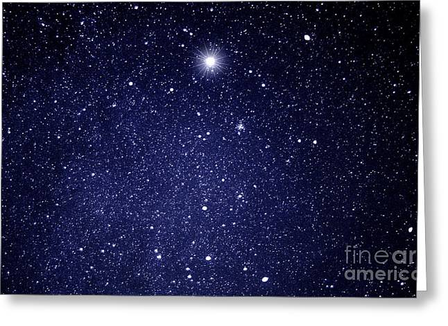Time Exposure Greeting Cards - A Star Appeared in the East... Greeting Card by Thomas R Fletcher