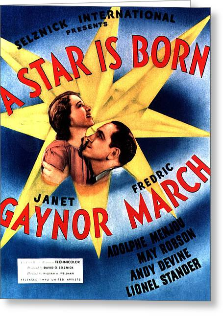 Janet Gaynor Greeting Cards - A Star Is Born Greeting Card by Studio Release