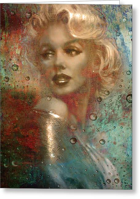 Norma Jean Greeting Cards - A Star Through the Rain Greeting Card by Greg Sharpe