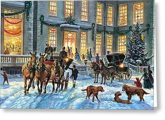 Crisp Greeting Cards - A Stately Christmas Greeting Card by Steve Crisp