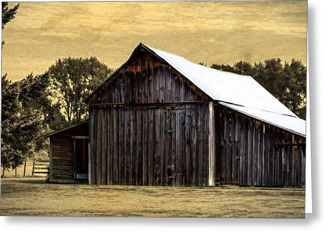 Barn Door Greeting Cards - A Step Out Of Time Greeting Card by Jordan Blackstone