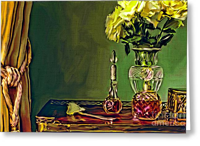 Old Tv Paintings Greeting Cards - A Still Life from Downton Abbey Greeting Card by Ted Guhl