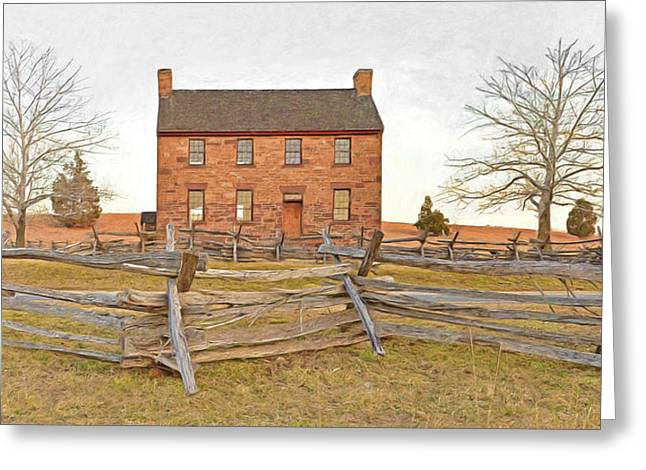 Confederate Hospital Digital Art Greeting Cards - Stone House / Manassas National Battlefield / Winter Morning Greeting Card by Digital Photographic Arts