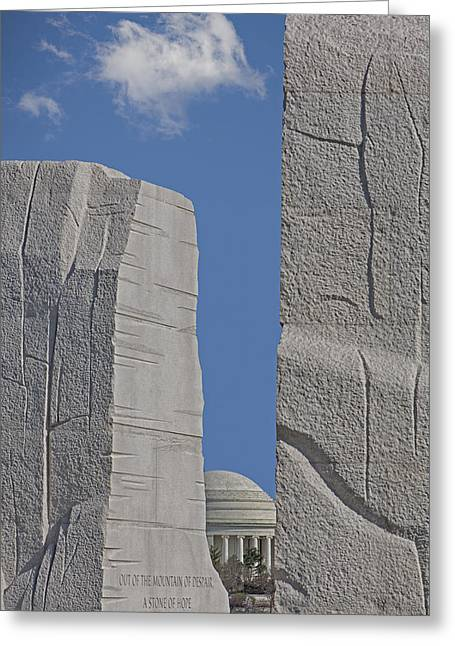 Civil Rights Greeting Cards - A Stone Of Hope Greeting Card by Susan Candelario