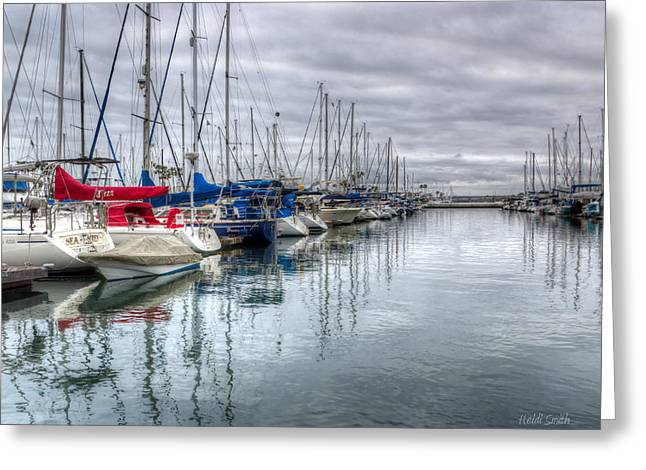 Docked Boat Greeting Cards - A Storm Was Brewing Greeting Card by Heidi Smith