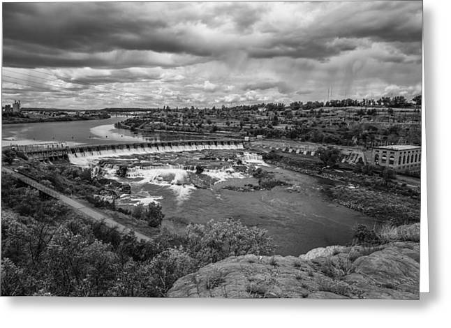 Great Falls Greeting Cards - A Stormy Afternoon In Great Falls Montana Greeting Card by Thomas Young