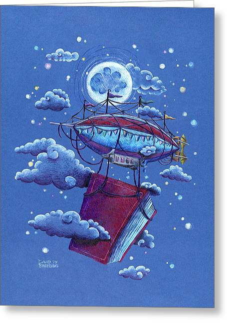 Star Nursery Greeting Cards - A Storybook Adventure Greeting Card by David Breeding