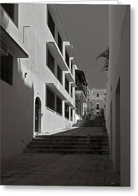 Mario Celzner Greeting Cards - A Street With No Name  Greeting Card by Mario Celzner