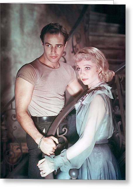 1950 Movies Greeting Cards - A Streetcar Named Desire  Greeting Card by Silver Screen