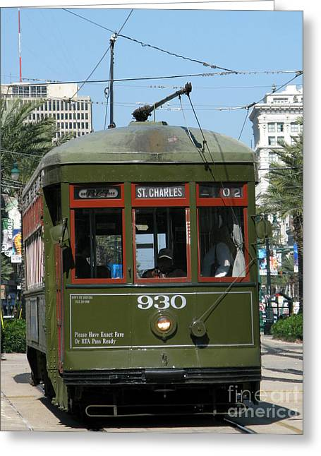 Crescent City Greeting Cards - A Streetcar Named Something Else Greeting Card by Olivier Le Queinec
