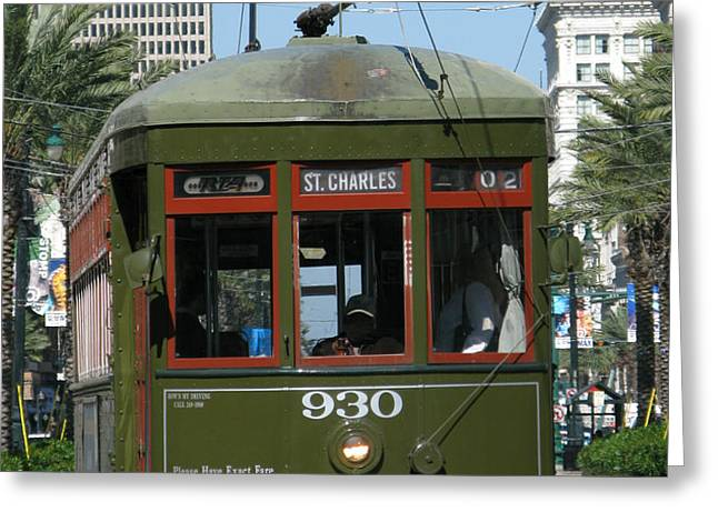 A Streetcar Named Something Else Greeting Card by Olivier Le Queinec
