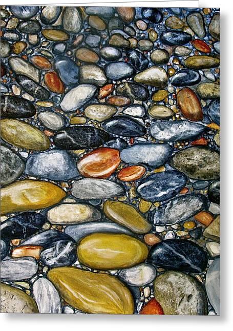 A Stroll Along The Beach Greeting Card by Heather Matthews