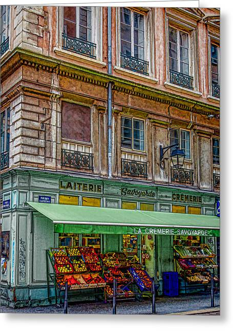 Bouchon Greeting Cards - A stroll in Lyon Greeting Card by W Chris Fooshee