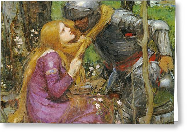 A study for La Belle Dame sans Merci Greeting Card by John William Waterhouse