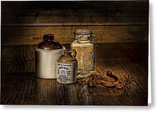 Recently Sold -  - Old Western Photos Greeting Cards - A Study in Brown Greeting Card by Leah McDaniel