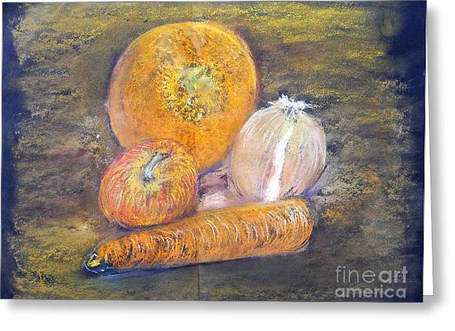 Produce Pastels Greeting Cards - A study in orange Greeting Card by Madeline Moore
