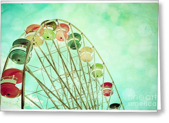 Rotate Greeting Cards - Carnival - A Summers Day Greeting Card by Colleen Kammerer
