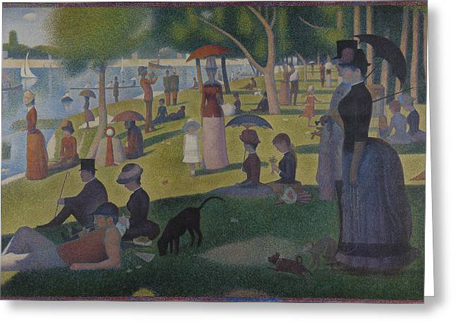 Seurat Greeting Cards - A Sunday on La Grande Jatte Greeting Card by Georges Seurat