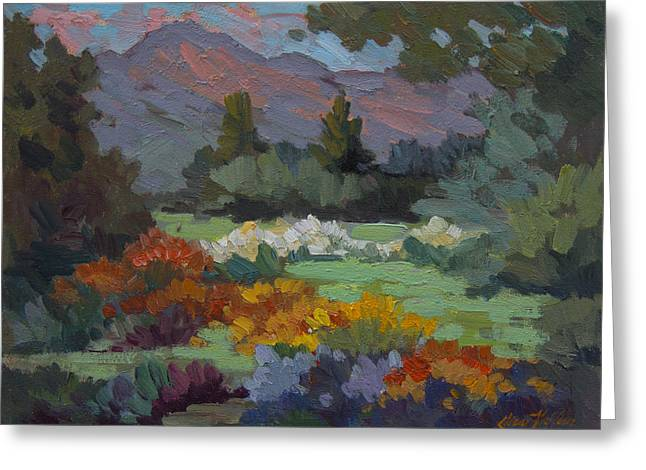Barbara Paintings Greeting Cards - A Sunny Afternoon in Santa Barbara Greeting Card by Diane McClary