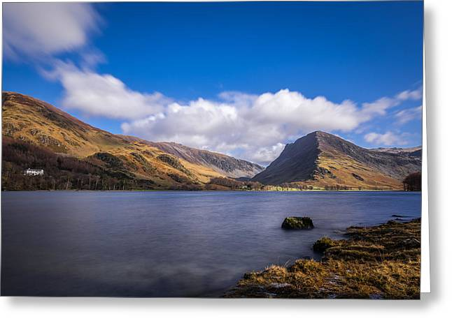Walking Greeting Cards - A Sunny Day At Lake Buttermere. Greeting Card by Daniel Kay