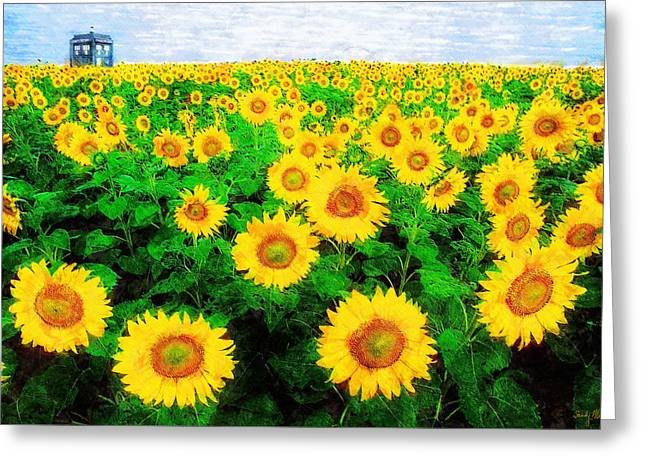 11th Doctor Greeting Cards - A Sunny Day with Vincent Greeting Card by Sandy MacGowan