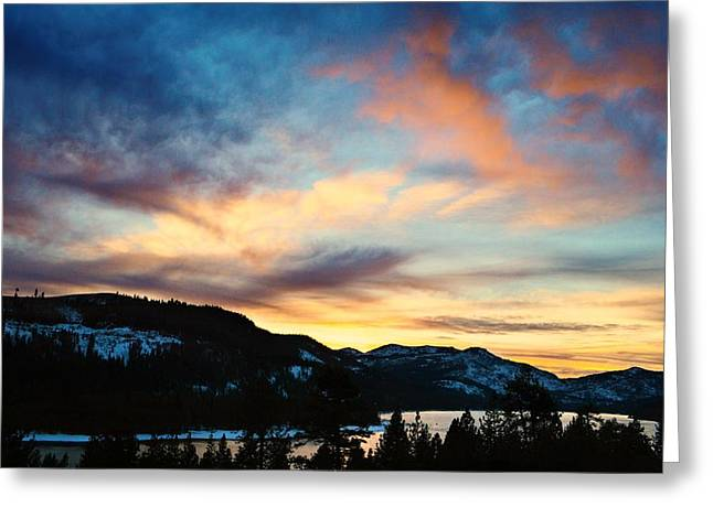 Winter Solstice Framed Prints Greeting Cards - A Sunset to End the Year Greeting Card by Leah Moore