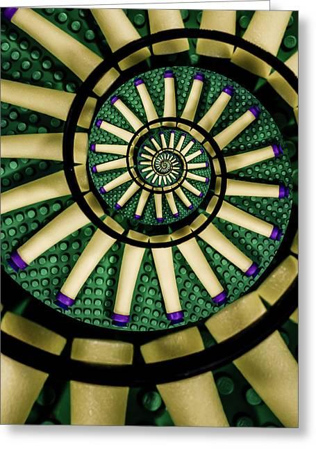A Swirl Of Legonerf Greeting Card by Randy Turnbow