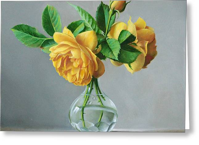 Yellow Greeting Cards - A Symbol Greeting Card by Pieter Wagemans