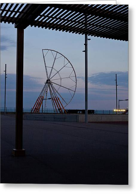 Take The Wheel Greeting Cards - Ferris wheel - Asymmetry Greeting Card by Kobi Amiel