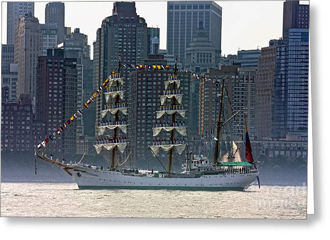 A Tall Ship Participating In Fleet Week Events In New York City  Greeting Card by Nishanth Gopinathan