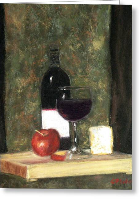 Cindy Plutnicki Greeting Cards - A Taste of Merlot Greeting Card by Cindy Plutnicki