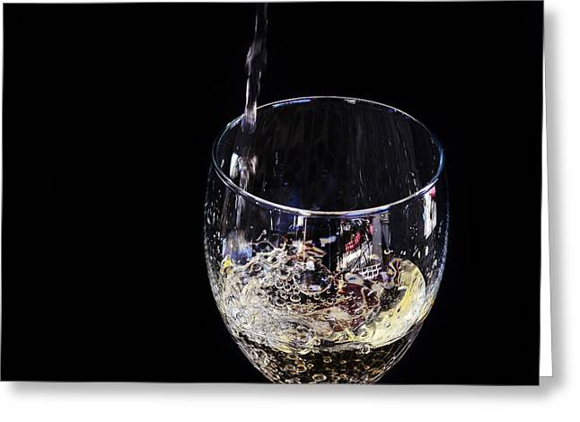 Pouring Digital Art Greeting Cards - A taste of the bubbly Greeting Card by Camille Lopez