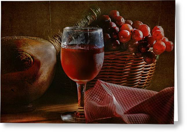 Connoisseur Greeting Cards - A Taste of the Grape Greeting Card by David and Carol Kelly
