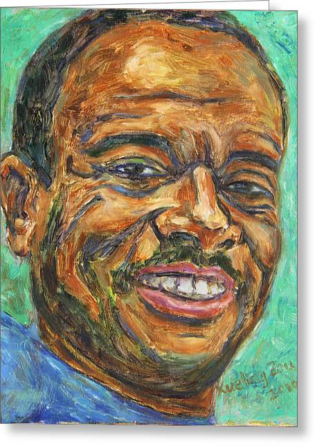 African-americans Greeting Cards - A Teacher from Atlanta GA Greeting Card by Xueling Zou