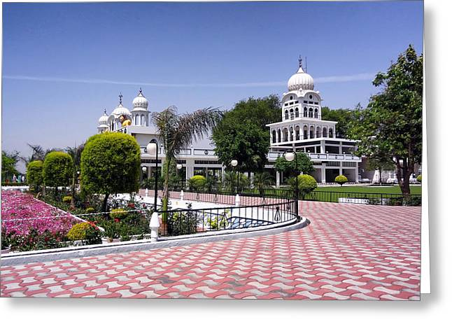 Punjab Greeting Cards - A Temple in Punjab Greeting Card by Mountain Dreams