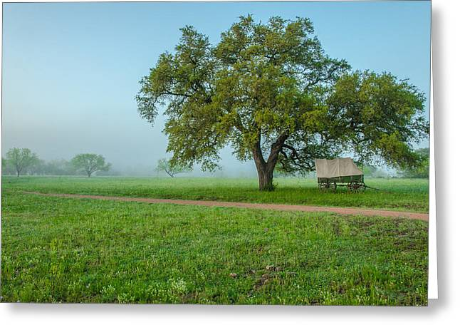 A Texas Morning Greeting Card by Jeffrey W Spencer