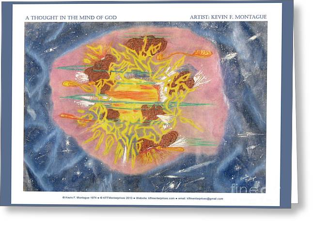 Hubble Space Telescope Mixed Media Greeting Cards - A Thought in the Mind of God Greeting Card by Kevin Montague