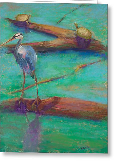 Great Birds Pastels Greeting Cards - A Threesome? Greeting Card by Nicki Shishakly