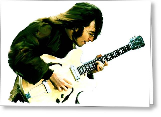 John Lennon Art Greeting Cards - A Time It Was  John Lennon Greeting Card by Iconic Images Art Gallery David Pucciarelli
