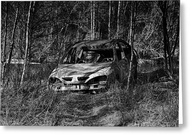 Abandoned Cars Greeting Cards - A Time Past Greeting Card by Mountain Dreams