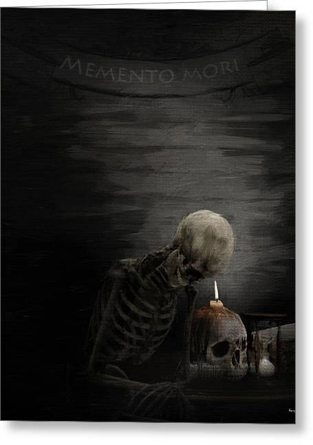 Macabre Digital Art Greeting Cards - A Time To Remember Greeting Card by Lourry Legarde