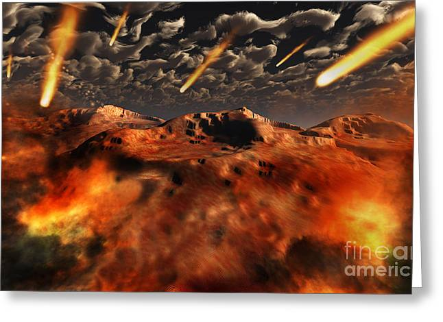 Cataclysm Greeting Cards - A Time When The Earth Was Being Formed Greeting Card by Mark Stevenson