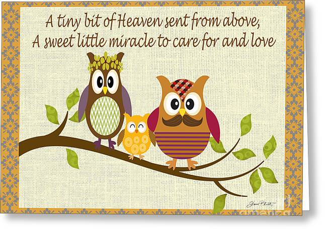 New Baby Art Greeting Cards - A Tiny Bit of Heaven Greeting Card by Jean Plout